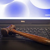internet bidding: a gavel on a computer<br /> Keeneland January Sales at Keeneland near Lexington, Ky., on Jan. 12, 2021.