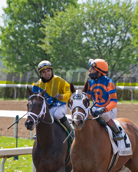 (L-R): Sometimes Always with Luis Saez, and French Toast with John Velazquez after Race 6. <br /> Scenes at Keeneland near Lexington, Ky., on April 15, 2021. .