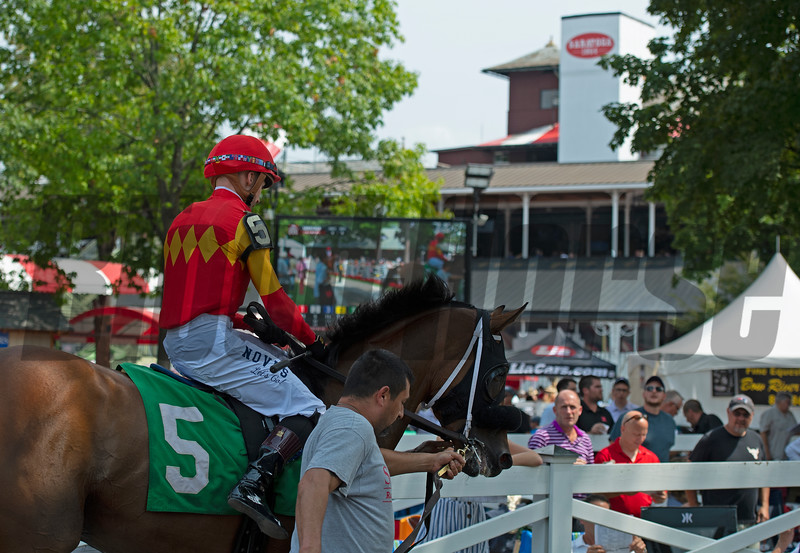 Scene showing Ruse and Dylan Davis.<br /> Saratoga racing scenes at Saratoga in Saratoga Springs, N.Y. on Aug. 7, 2021.