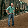 Caption: <br /> A native of Oklahoma, Heath started working at WinStar Farm on October 10, 2014, and became the farm trainer in October of 2018. Presently he has about 100 horses in training at the WinStar Farm training center, where they have a 7 1/2-furlong main track and 3/4 of a mile undulating turf gallop.<br /> Daily Life series on Destin Heath, farm trainer at WinStar Farm on Aug. 11, 2020 WinStar Farm in Versailles, KY.