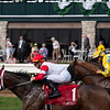 Turf racing in front of clubhouse lawn at Keeneland on April 11, 2019 in Lexington,  Ky.