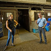Caption:  (L-R): barn manager and instructor Amy Heitzman talks with Remi Bellocq<br /> BCTC equine school and NARA in Lexington, Ky., and Thoroughbred Training Center, on July 6, 2020 BCTC in Lexington, KY.