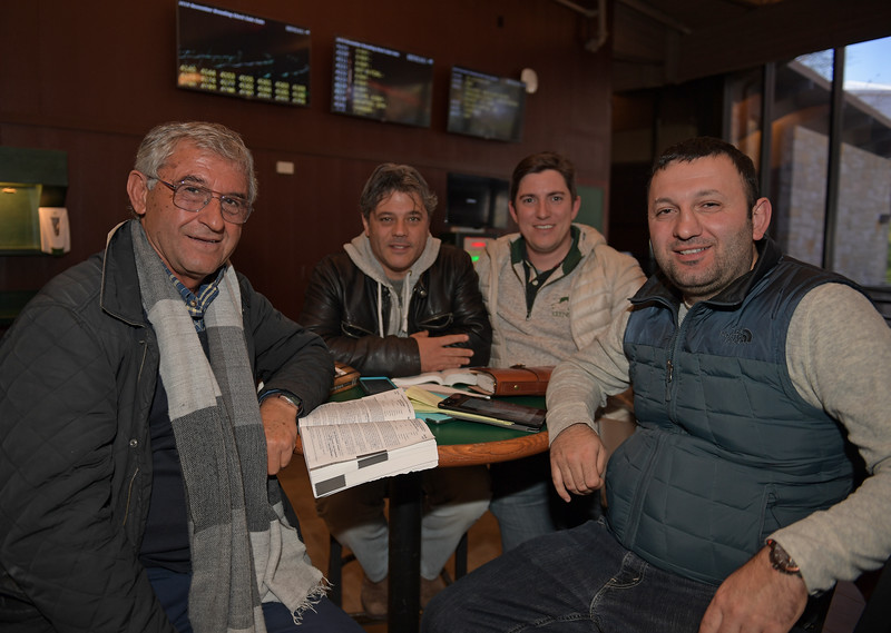 Murat Sandal , right, and Arif Kurtel, left, with two other members of their team on Nov. 16, 2019 Keeneland in Lexington, KY.