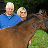 Caption: Searings look at their Justify foal out of She's a Warrior<br /> Lee and Susan Searing look over their bloodstock (mares, foals, yearlings) at Springhouse Farm near Nicholasville, Ky., on June 22, 2020 Springhouse Farm in Nicholasville, KY.