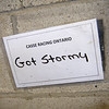 Got Stormy stall tag<br /> at Woodbine.