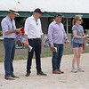 (L-R): Tom Ryan, Henry Field, Gavin Murphy, Caroline Wilson<br /> at the Keeneland September Sale.