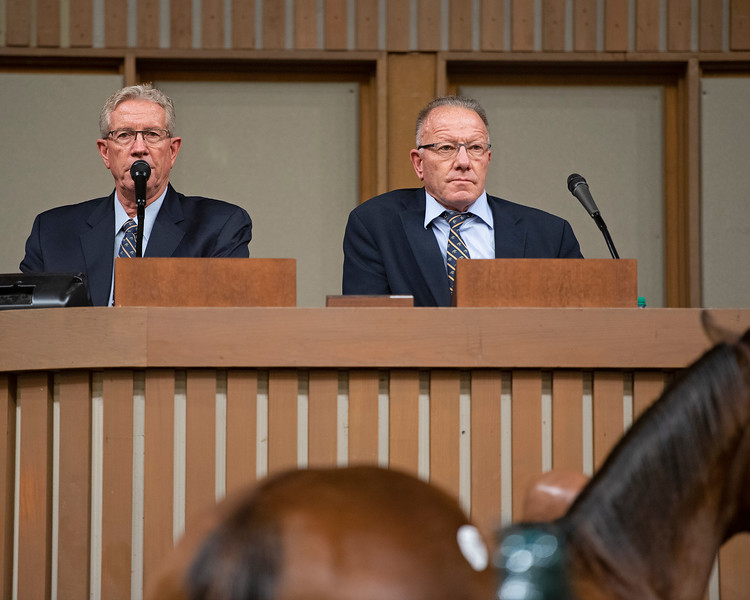 (L-R): Scott and Cris Caldwell<br /> Keeneland January Horses of all ages sales on<br /> Jan. 15, 2020 Keeneland in Lexington, KY.