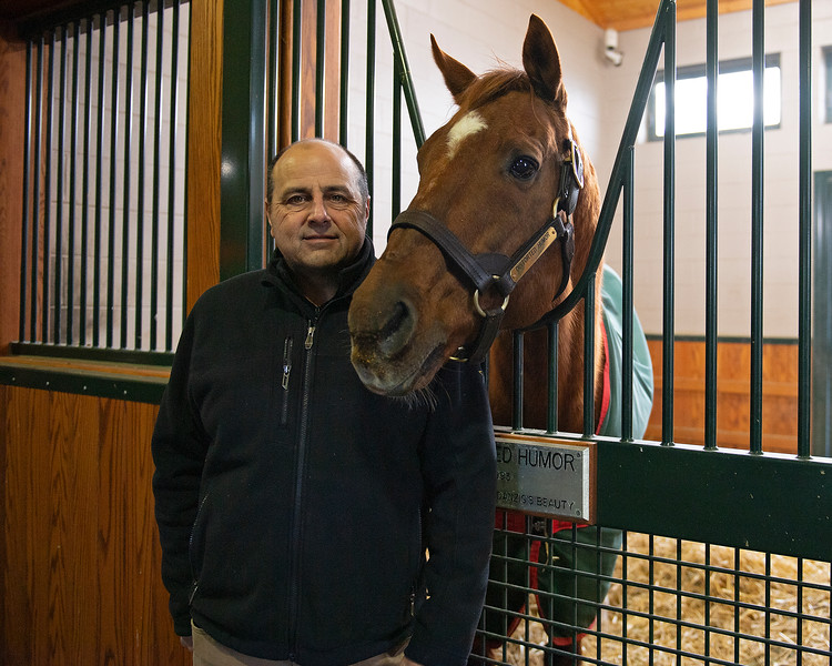 Larry McGinnis and Distorted Humor at WinStar Farm on Dec. 23, 2019 WinStar Farm in Versailles, KY. Photo: Anne M. Eberhardt