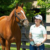 Caption:  Liz Crow<br /> British Idiom at WinStar Farm near Versailles, Ky., on June 16, 2020 WinStar Farm in Versailles, KY.