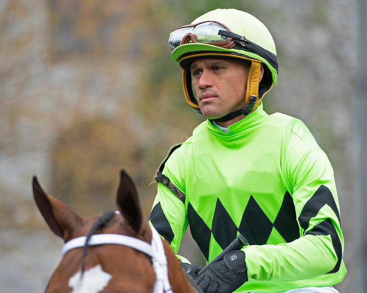 Javier Castellano at Keeneland on April 12, 2019 in Lexington,  Ky.