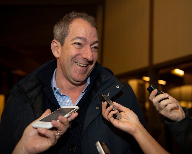 Craig Bernick after sale of Hip 595 Confidently at Glen Hill<br /> Keeneland January Horses of all ages sales on<br /> Jan. 14, 2020 Keeneland in Lexington, KY.