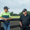 Caption: (L-R): Tommy Drury and Bruce Lunsford<br /> Bruce Lunsford at Skylight Training Center with his horse Art Collector and trainer Tommy Drury on Aug. 12, 2020 Skylight Training Center in Prospect, KY.