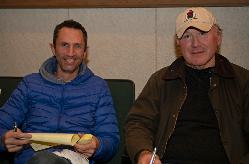 (L-R): Martin Keogh and Jim Fitzgerald. Hip 1486 colt by Street Boss from Lotta Lolly and Indian Creek.<br /> Keeneland January Horses of all ages sales on<br /> Jan. 16, 2020 Keeneland in Lexington, KY.