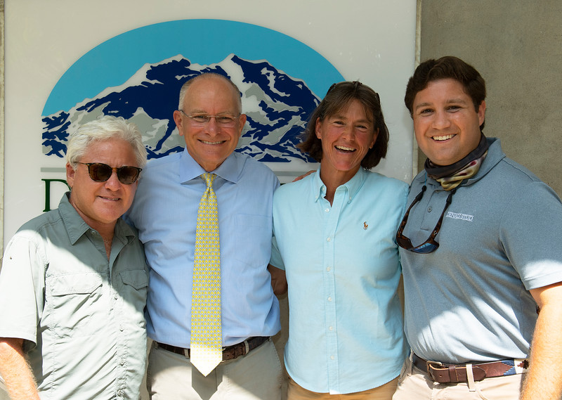 (L-R): consignor Craig Bandoroff, breeders Bayne and Christine Welker, and consignor Conrad Bandoroff<br /> Fasig-Tipton Selected Yearlings Showcase in Lexington, KY on September 10, 2020.