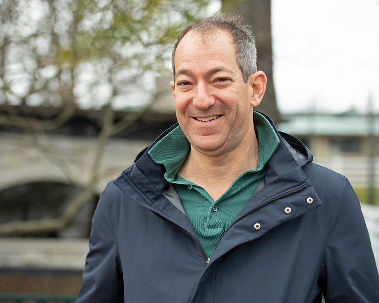 Craig Bernick with Glen Hill during the Keeneland January sales on Jan. 11, 2020 Keeneland in Lexington, KY.