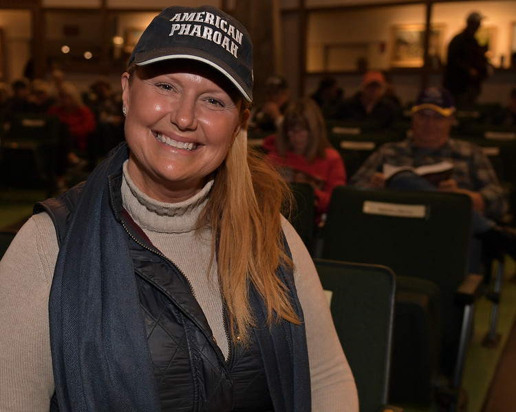 Renee Dailey. Hip 1735 colt by Connect from Wild Hoots<br /> on  Nov. 10, 2019 Keeneland in Lexington, KY.