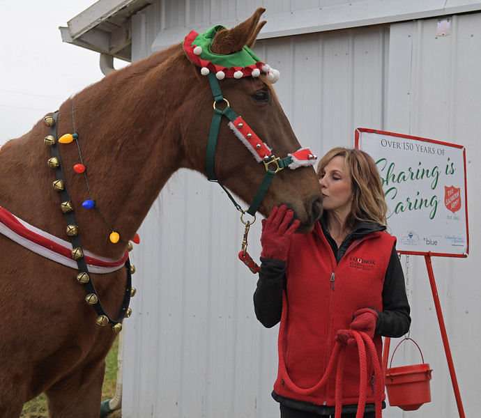 Hank practicing at Side Saddle Farm for his Salvation Army gig on Nov. 23, 2019 Side Saddle Farm in Cynthiana, KY.