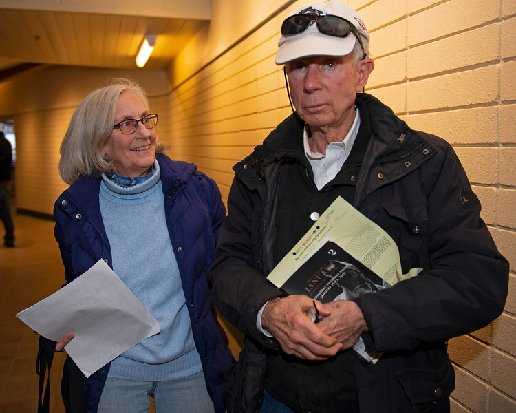 (L-R): Sally Nims and Cecil Seamon. Hip 1402 Electricita from Sam-Son<br /> Keeneland January Horses of all ages sales on<br /> Jan. 16, 2020 Keeneland in Lexington, KY.