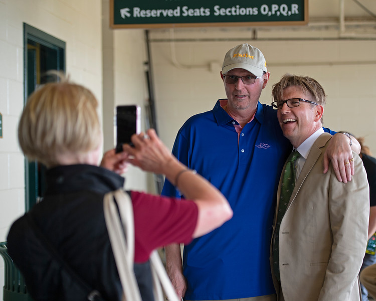 photo with a fan<br /> Matt Carothers and Keeneland scenes at Keeneland on April 11, 2019 in Lexington,  Ky.