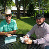 (L-R): Tom Ryan and Gavin Murphy<br /> Fasig-Tipton Selected Yearlings Showcase in Lexington, KY on September 10, 2020.