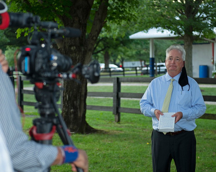 Boyd Browning reminiscing about their team Dennis Lynch etc<br /> Fasig-Tipton Selected Yearlings Showcase in Lexington, KY on September 10, 2020.