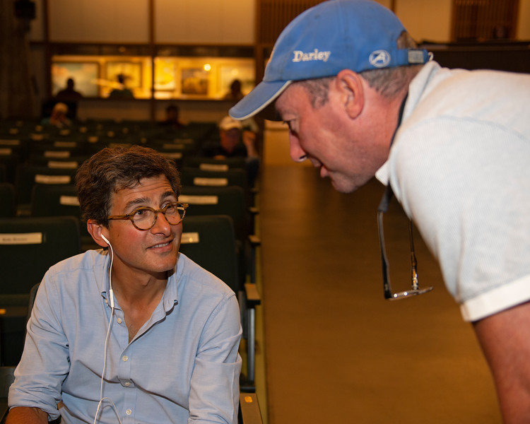 (L-R): buyer Federico Barberino and owner Ted Campion. The Dialed In colt consigned as Hip 2792<br /> at Keeneland September sale.