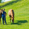 Caption: Former UK AG Equine Program student Julie Witt, with Ruly and Speightster filly.<br /> Julie Witt, an UK Equine program graduate, at Sun Valley Farm near Versailles, Ky., on June 7, 2020 Julie Witt in Versailles, KY.
