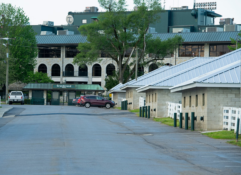 Caption: no problem parking this year<br /> Midnight Bisou at Keeneland on May 2, 2020 Keeneland in Lexington, KY.