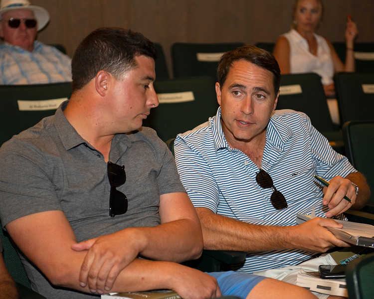 (L-R): Simon Callaghan and Ben McElroy<br /> at the Keeneland September Sale.