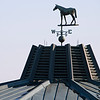 Caption: weathervane on Sales complex<br /> Behind the Scenes at Keeneland during Covid19 virus and the people, horses, and essentials needed to take care of race horses on April 2, 2020 Keeneland in Lexington, KY.
