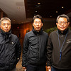 (L-R): Dr. Takeshi Kato, Tomo Nakamura, and Taki Murayama<br /> at  Nov. 5, 2019 Fasig-Tipton in Lexington, KY.