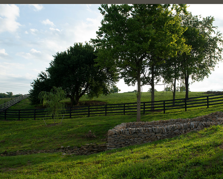 Caption: stone construction around natural springs<br /> Aidan and Leah O'Meara at Stonehaven Steadings near Versailles, Ky. on Aug. 7, 2020 Stonehaven Steadings in Versailles, KY.