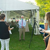 Boyd Browning talks to media<br /> Fasig-Tipton Selected Yearlings Showcase in Lexington, KY on September 9, 2020.
