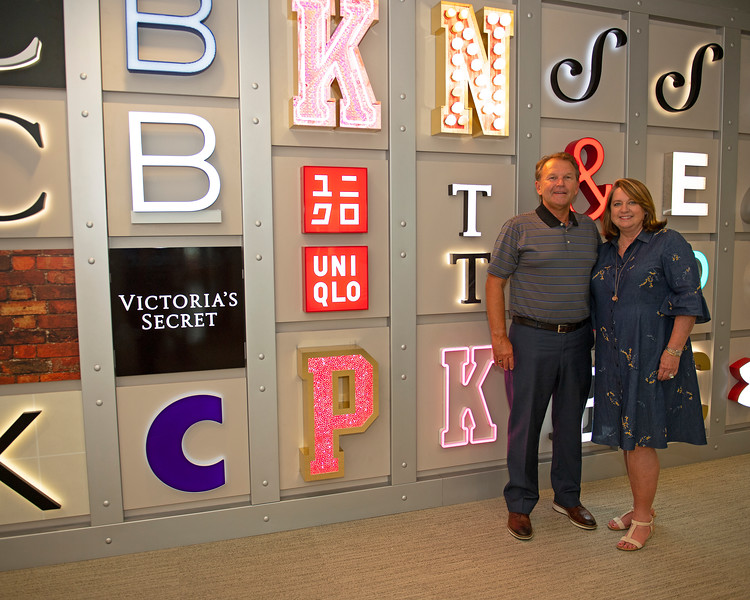 Caption:  (L-R): Tim and Anna Cambron signs and letters by Ruggles in their board room<br /> Tim and Anna Cambron at Ruggles sign company in Versailles, Ky. on July 8, 2020 Ruggles in Versailles, KY.