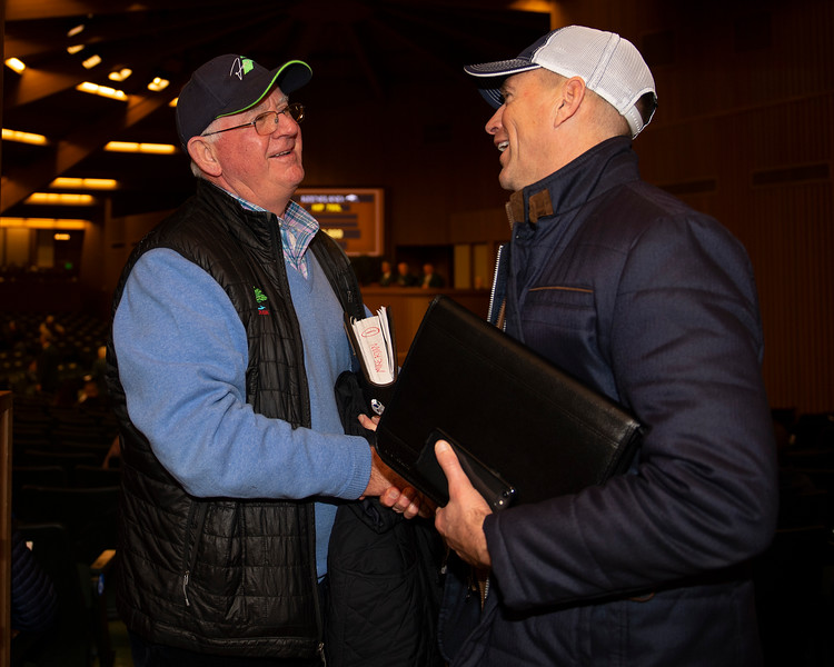 (L-R): Mike Ryan and Joe Seitz<br /> Keeneland January Horses of all ages sales on<br /> Jan. 14, 2020 Keeneland in Lexington, KY.