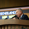 John Henderson, announcer<br /> Keeneland January Horses of all ages sales on<br /> Jan. 17, 2020 Keeneland in Lexington, KY.