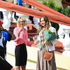 Great Winner trainer Olga Polushkina, on right, after grade one win in Grand Prix on Aug. 25, 2019.