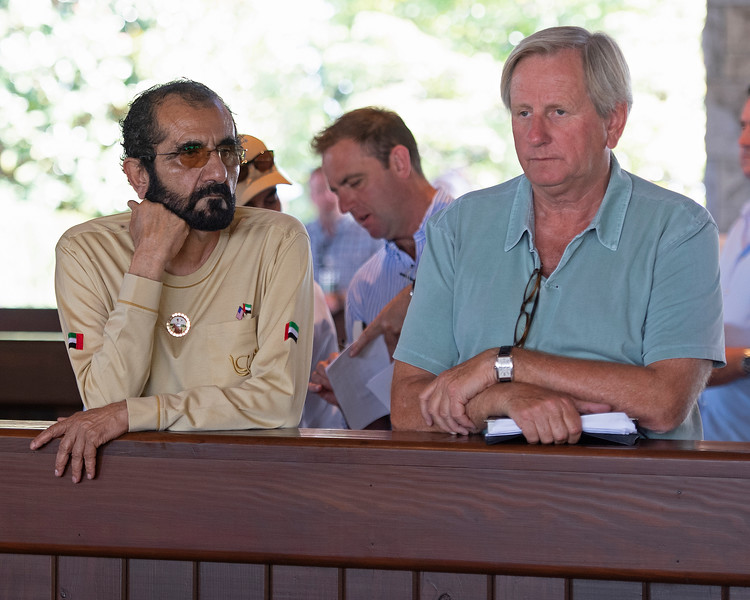(L-R): Sheikh Mohammed and Antony Stroud. <br /> at the Keeneland September Sale.