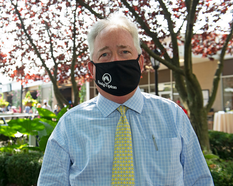 Boyd Browning, masked up<br /> Fasig-Tipton Selected Yearlings Showcase in Lexington, KY on September 10, 2020.