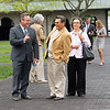 Ben Huffman, left, in the paddock at Keeneland on April 18, 2019 in Lexington,  Ky. <br /> Anne Hardy with Horse Country at Keeneland on April 18, 2019 in Lexington,  Ky.