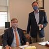 Caption: l-r, Drew Fleming and John Keitt,  COO with Breeders' Cup<br /> Breeders' Cup CEO and President Drew Fleming in the Breeders' Cup office in downtown Lexington, Ky., on June 16, 2020 Drew Fleming in Lexington, KY.