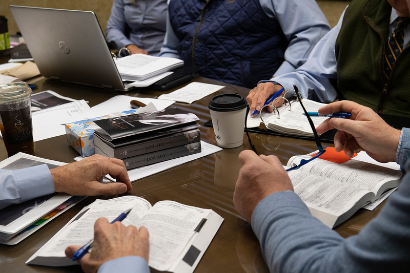 Consignor meeting with sales team on Jan. 13, 2020 Keeneland in Lexington, KY.