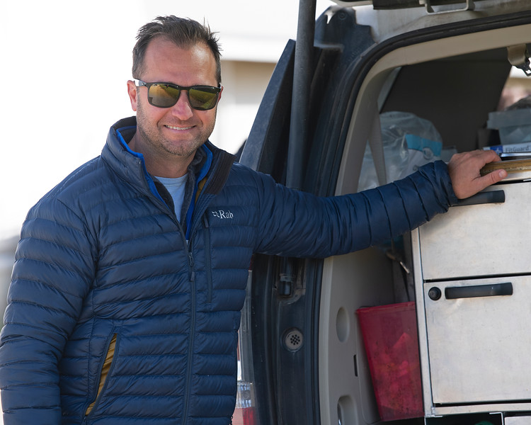 Caption: Nathan Chaney DVM<br /> Behind the Scenes at Keeneland during Covid19 virus and the people, horses, and essentials needed to take care of race horses on April 2, 2020 Keeneland in Lexington, KY.