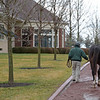 Caption: about 8:16 Honor Code has finished breeding and heads back to his stall. Daily Life on Billy Sellers, Lane's End Farm stallion manager who started working for the farm in 1982 and who has been their only stallion manager since 1985 when the farm acquired their first stallions, photographed on<br /> March 3, 2020 Lane's End Farm in Versailles, KY.
