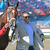 Kevin Attard walks Starship Jubilee after winning Canadian (G2)<br /> at Woodbine.