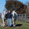 Jim Power with G G's a Gem (left) and Gray Storm A'Comin <br /> at  Nov. 6, 2019  in Lexington, KY.