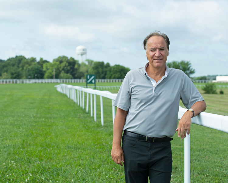Caption: on course near finish<br /> Ted Nicholson, general manager and senior Vice President at Kentucky Dpwns near Franklin, Ky. on July 28, 2020 Kentucky Downs in Franklin, KY.