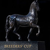 Caption: Breeders' Cup ecorche statue near Keeneland paddock<br /> Behind the Scenes at Keeneland during Covid19 virus and the people, horses, and essentials needed to take care of race horses on April 2, 2020 Keeneland in Lexington, KY.