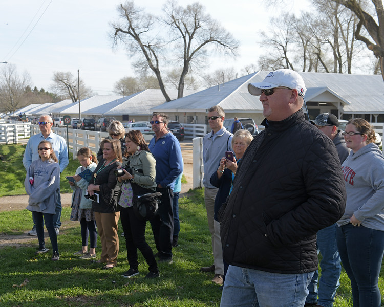 Kenny McPeek talks to Keeneland tour group<br /> Morning sales and racing scenes at Keeneland in Lexington, Ky., on April 4, 2019