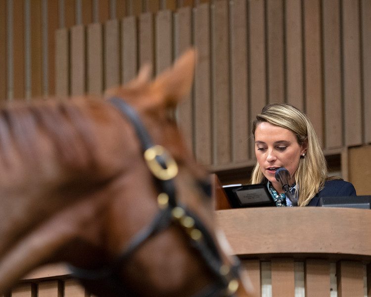Gabby Gaudet announces at Keeneland<br /> Keeneland January Horses of all ages sales on<br /> Jan. 15, 2020 Keeneland in Lexington, KY.